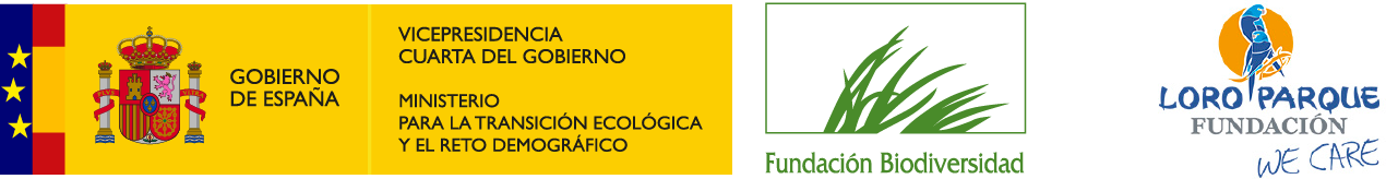 Biodiversity Foundation from the Ministry for the Ecologic Transition and Demographic Challenge, and Loro Parque Fundacion